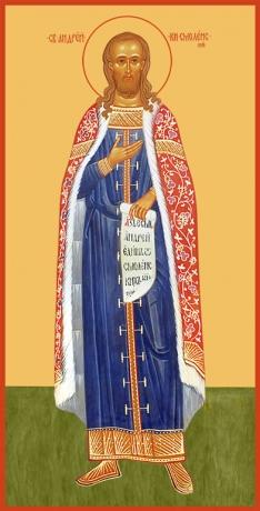 Андрей Смоленский благоверный князь, икона (арт.6458)