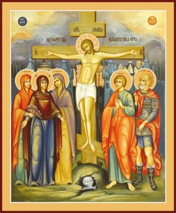 Распятие Господа нашего Иисуса Христа, икона (арт.645)
