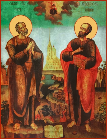 Петр и Павел апостолы, икона (арт.6460)