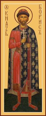 Борис благоверный князь-страстотерпец, икона (арт.6464)