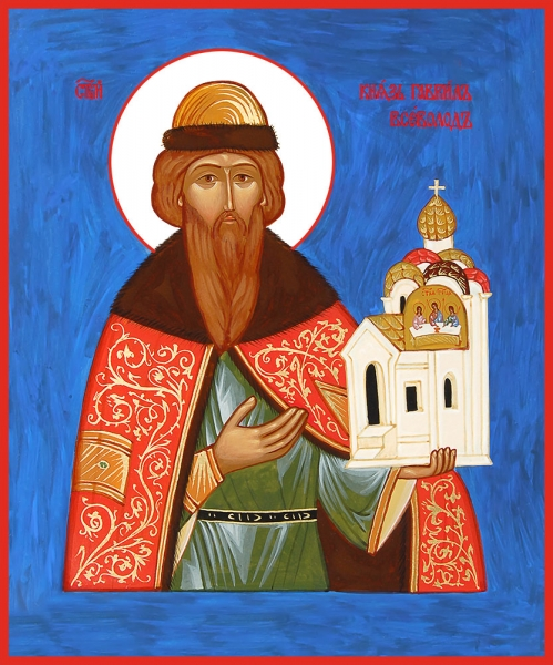 Всеволод Псковский, во святом крещении Гавриил, благоверный князь, икона (арт.06476)