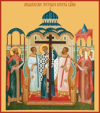 Воздвижение Честного и Животворящего Креста Господня, икона (арт.649)