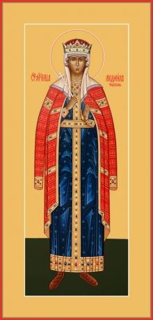 Людмила мученица, княгиня чешская, икона (арт.6501)