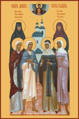 Собор Дивеевских святых, икона (арт.650)