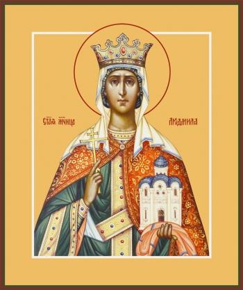 Людмила мученица, княгиня чешская, икона (арт.6513)