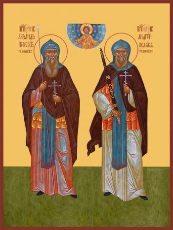 Пересвет и Ослябя святые воины, икона (арт.6515)