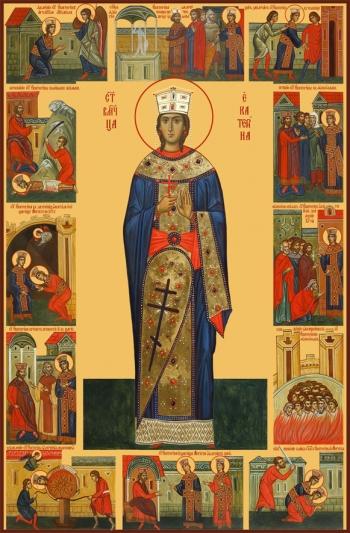 Екатерина великомученица, икона (арт.6525)