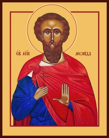 Леонид мученик, икона (арт.6546)