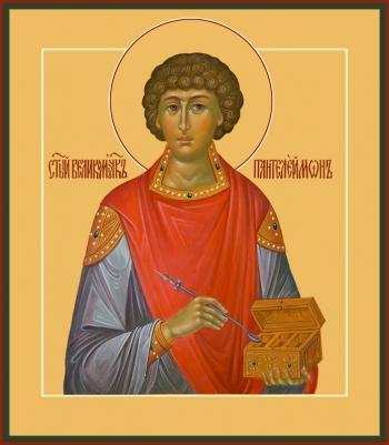 Пантелеимон великомученик и целитель, икона (арт.6577)