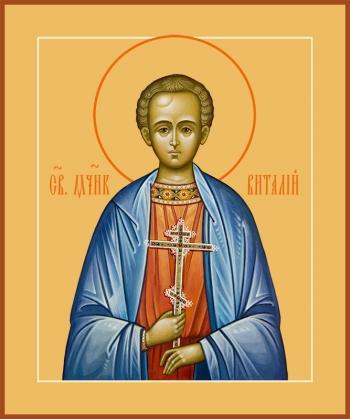 Виталий Александрийский преподобный, икона (арт.6578)