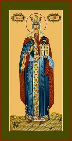 Людмила мученица, княгиня чешская, икона (арт.6587)