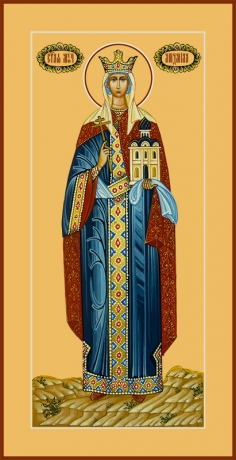 Людмила мученица, княгиня чешская, икона