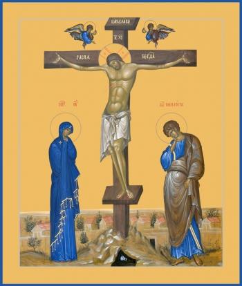 Распятие Господа нашего Иисуса Христа, икона (арт.6609)