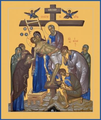 Снятие с креста, икона (арт.6610)