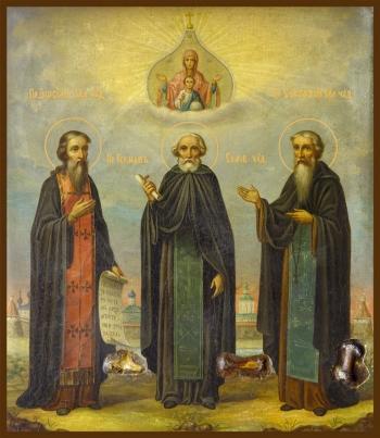 Зосима, Савватий и Герман Соловецкие преподобные, икона