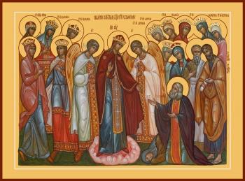 Явление Пресвятой Богородицы преподобному Серафиму Саровскому, икона (арт.6626)