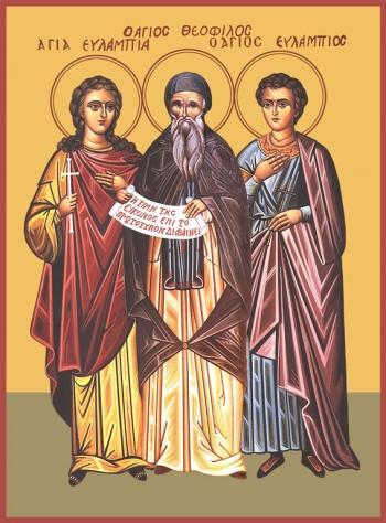 Евлампий, Феофил, Евлампия мученики, икона (арт.6631)