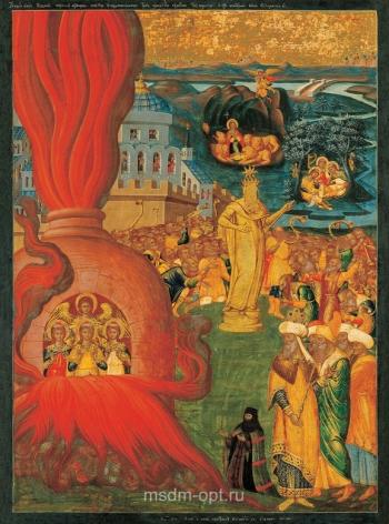 Три отрока в пещи огненной, икона (арт.06638)