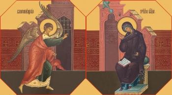 Благовещение Пресвятой Богородицы, иконы на Царские Врата (арт.06656)