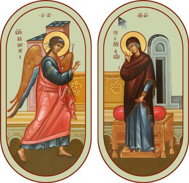 Благовещение Пресвятой Богородицы, иконы на Царские Врата (арт.06684)