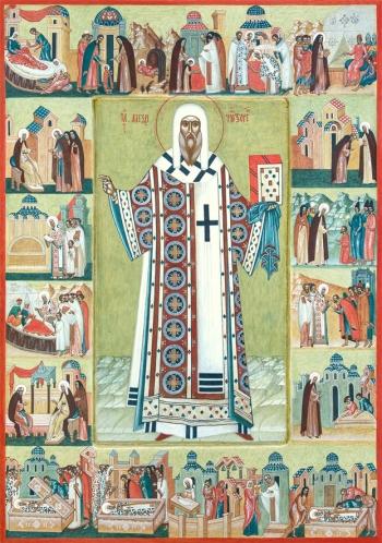 Алексий, митрополит Московский, святитель, чудотворец, икона (арт.6701)