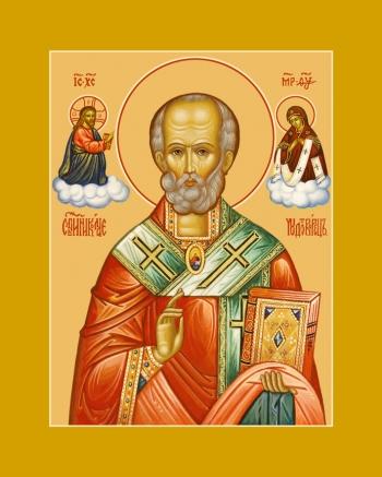 Николай чудотворец, архиепископ Мир Ликийских, святитель, икона (арт.6705)