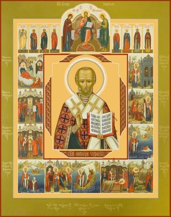 Николай чудотворец, архиепископ Мир Ликийских, святитель, икона (арт.6710)