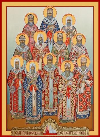 Собор Московских святителей, икона (арт.6715)