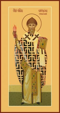 Спиридон Тримифунтский святитель, икона (арт.06722)