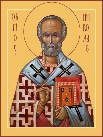 Николай чудотворец, архиепископ Мир Ликийских, святитель, икона