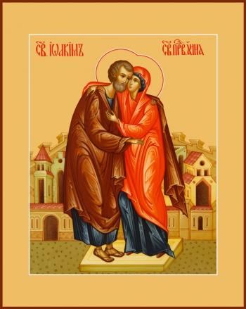 Иоаким и Анна праведные богоотцы, икона (арт.6802)