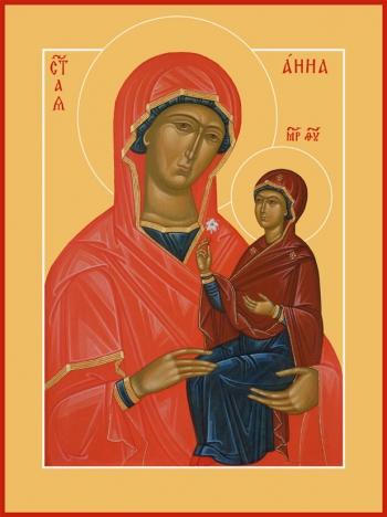 Анна, мать Пресвятой Богородицы, праведная, икона (арт.6806)