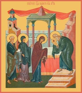 Сретение Господне, икона (арт.680)