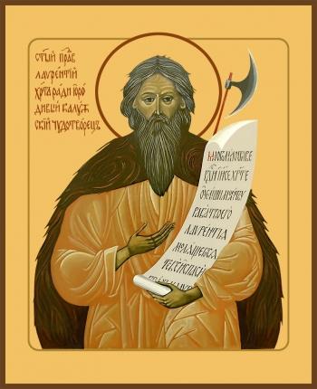 Лаврентий, Христа ради юродивый, Калужский чудотворец, праведный