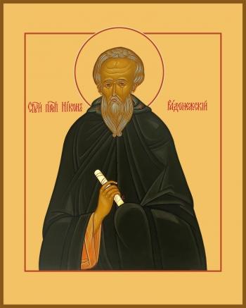 Икона святой Никон Радонежский, игумен преподобный