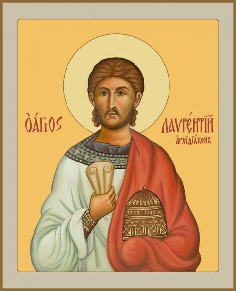 Лаврентий Римский архидиакон мученик, икона (арт.06900)