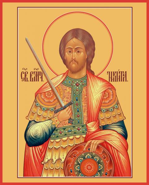 Никита Готфский, Константинопольский, великомученик, икона (арт.06918)