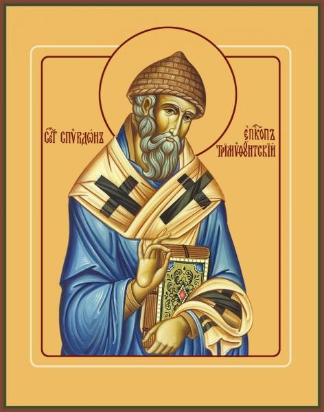 Спиридон Тримифунтский святитель, икона (арт.00700)