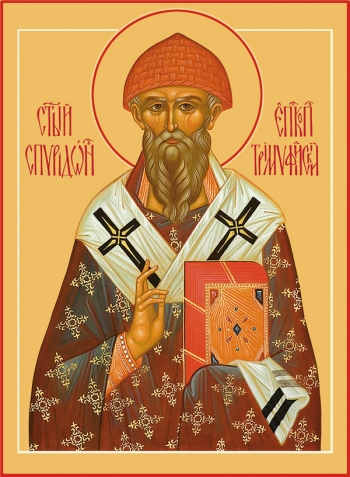 Спиридон Тримифунтский святитель, икона (арт.704)
