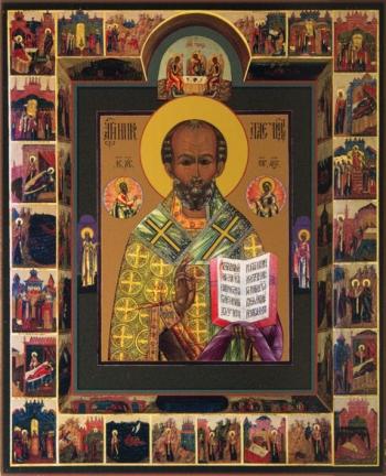 Николай чудотворец, архиепископ Мир Ликийских, святитель, икона (арт.725)
