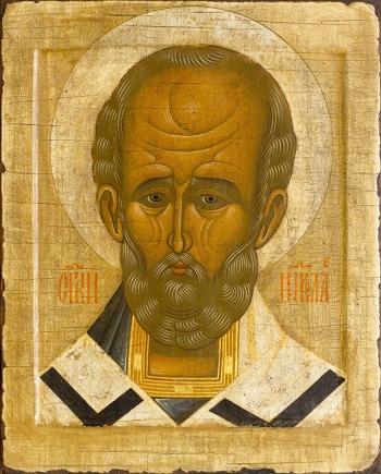 Николай чудотворец, архиепископ Мир Ликийских,  святитель, икона (арт.729)