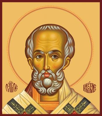 Николай чудотворец, архиепископ Мир Ликийских, святитель, икона (арт.731)