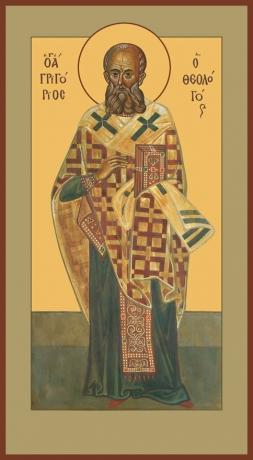 Григорий Богослов святитель, икона (арт.736)