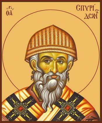 Спиридон Тримифунтский святитель, икона (арт.740)