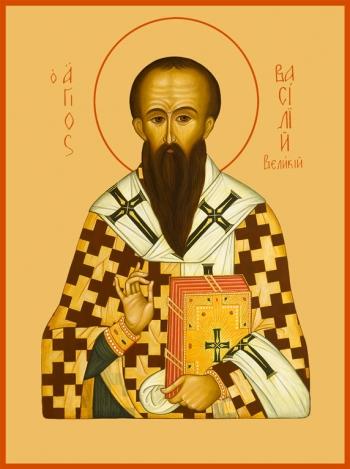 Василий Великий, архиепископ Кесарии Каппадокийской, святитель, икона (арт.749)