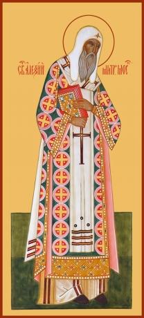 Алексий, митрополит Московский, святитель, чудотворец, икона (арт.753)