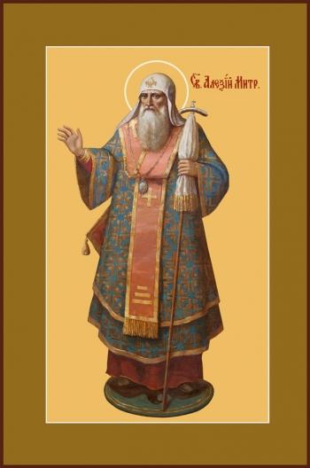 Алексий, митрополит Московский, святитель, чудотворец, икона (арт.754)