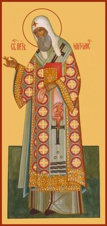 Петр, митрополит Московский, святитель, икона (арт.758)