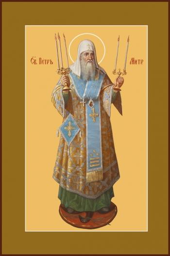 Петр, митрополит Московский, святитель, икона (арт.759)