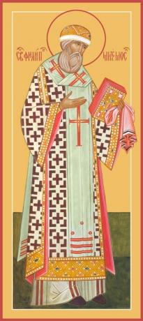 Филипп, митрополит Московский, святитель, чудотворец, икона (арт.791)